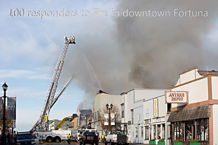 Fire in downtown Fortuna